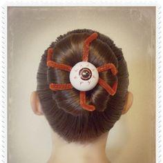 Eyeball Bun Hairstyle For Halloween Or Crazy Hair Day!