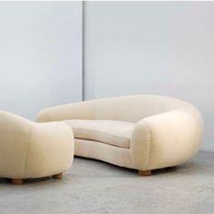 Damien Baroz | Instant Design pour Kolectiv Design | Canapé Ours polaire Jean Royère | #instantdesign #kolectivdesign