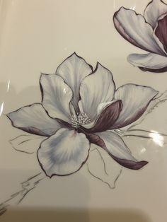 China Painting, Fabric Painting, Watercolour Painting, Floral Watercolor, Painting & Drawing, Magnolia Flower, Botanical Illustration, Art Tutorials, Art Lessons