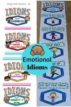 Idiom posters about