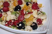 Tarta cu gem si nuci(de post) - LaLena.ro Fruit Salad, Deserts, Gem, Food, Tarts, Salads, Postres, Desserts, Gems
