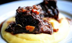 This spicy wine-braised beef served over creamy polenta makes a hearty, scrumptuous main course.