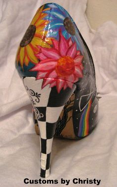 Facebook: Customs by Christy  Hand Painted Shoes