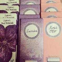 Rococo's delicious floral chocolate bars