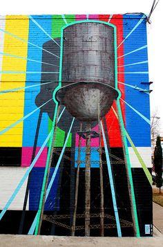 Water tower mural in Deep Ellum. One of my favorites.