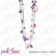 "Facebook contest for 4/2/12. Park Lane will be randomly selecting at least 5 winners throughout the day until 5pm central to receive a fabulous jewelry sample prize!!!! Click ""Like"" on the ""Designer's Choice Necklace"" on the Official Park Lane POST on the Jewels by Park Lane Inc. Page to be entered! (""Likes"" on shared posts will not be counted.)"