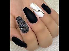 Rose Nail Art, Rose Nails, Nail Manicure, Gel Nails, Nail Courses, Gucci Nails, Sns Nails Colors, Nail Art Designs Videos, Elegant Nails