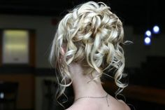 Hair, Updo with cascading ringlets