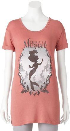 530346bd Disney's The Little Mermaid Ariel Juniors' Silhouette Graphic Tee Ariel The  Little Mermaid, Disney