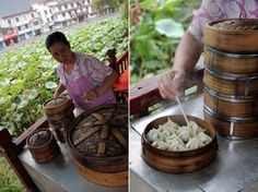 Guilin noodles (桂林米粉) are a form of Chinese rice noodles that have been served around Guangxi Province since the Qin Dynasty. Be sure to eat Guilin noodles when visiting! Chinese Rice Noodles, Guilin, International Food, Dumplings, Favorite Recipes, China, Eat, Travel, Viajes