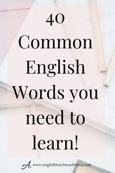Learn English words fast to improve your English Vocabulary and speaking skills. Click the link below to learn how Improve English Speaking, Learn English Words, English Phrases, English Book, English Study, English Lessons, English Idioms, English Writing, Advanced English Vocabulary