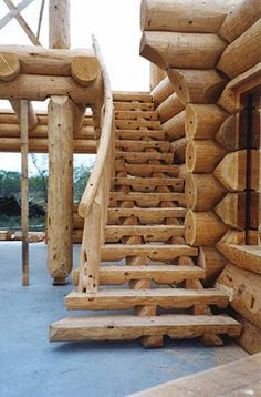 Beautiful exterior staircase.