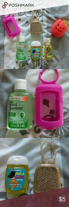 Hand Sanitizers + Cases One of the bath & body works has been used. The others have not been used. See photos. Comes with 3 hand sanitizers and 3 cases.   ALL listings are priced at $5 (final), so no offers will be considered. However, I do provide a discount for bundles of 4+!   NOTICE: If you create a bundle and it weighs more than 5 LBS, I will cancel the order. I can not pay for the added shipping cost. Please keep this in mind.   My home is a SMOKE FREE / KITTY FRIENDLY home. Thank…