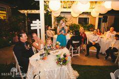 Backyard Wedding in Los Gatos, California - Toast by bride's sister - Sarah Maren Photography