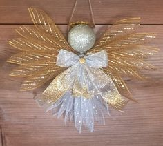 Large Angels-Deco Mesh-Assorted Colors