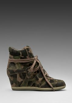 ASH Bea Wedge Sneaker in Military/Topo - Sneakers