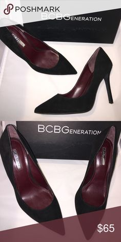 """NIB BCBG Black Suede Heels in Size 8.5 These are your """" go to"""" Heels that match everything!!! Brand new in box BCBG Black Suede Heels in Size 8.5 BCBG Shoes Heels"""