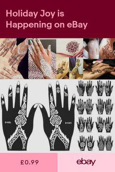 Henna Tattoo Gift Set Mehndi Kit Paste Cone W 200pc Tattoo Glitter