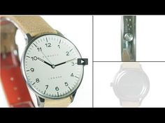 The Blip watch by Newgate Watches. Steel watch with tan suede strap.