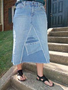 Womens Below Knee Jean Skirt Size 10