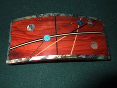 Wood Wooden Barrette Hairclip Bloodwood large by Thingsinwood18, $67.00