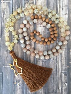 Sunstone and citrine make this Texas mala perfect for the wild and free.