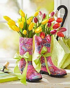 Красивые весенние композиции из живых цветов. Фото | Уют и тепло моего дома