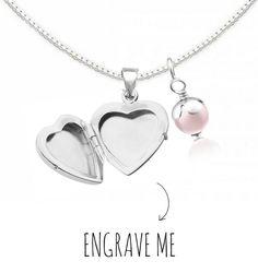 Locket necklace with engraving 'Little Secret'