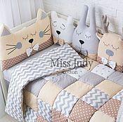 Бортики в детскую кроватку – купить или заказать в интернет-магазине на Ярмарке Мастеров   Бортики подушки для детской кроватки…