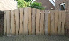 Robust oak garden gate