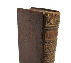 1745 leather French language book
