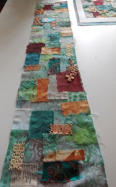 This month I am teaching a mixed media textile to the textile group I belong to. This is an idea of what we are going to do. I started wi...