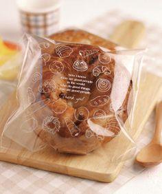 【四叶草韩国烘焙包装】可爱蛋糕咖啡色透明塑料包装袋13*13cm