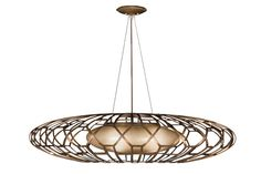 """""""Entourage"""" pendant  light from Fine Art Lamps. ..a nod to the retro   love it"""