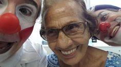 Hoje encontramos pessoas mais que especiais! Uma boa recuperação Dona Ilda! #olhardopalhaco