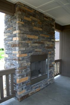 Stoned Outdoor Fireplace Lockport Laytite J&N Stone