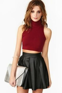 Rebel Crop Turtleneck $28 #FASHION