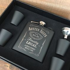 21st birthday gift flask for men, our 6oz flask gift sets are the perfect gift to celebrate a 21st birthday!