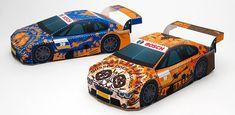Halloween-themed race car papercrafts from BOSCH Japan.