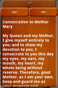 Consecration to Mother Mary ...