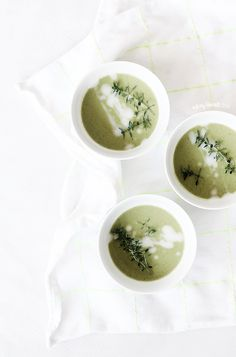 Pea and Ramson Soup | Milkingalmonds, April 2014