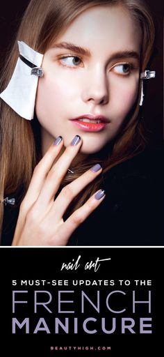 nail art idea - must-see updates to the french manicure!