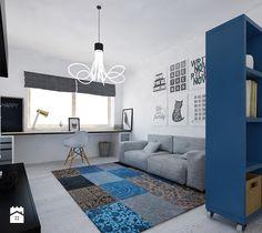 Aranżacje wnętrz - Pokój dziecka: Pokój nastolatka 01 - Ale design Grzegorz Grzywacz. Przeglądaj, dodawaj i zapisuj najlepsze zdjęcia, pomysły i inspiracje designerskie. W bazie mamy już prawie milion fotografii!