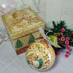 """Купить Новогодний шар """"Новогодний снег"""" в интернет магазине на Ярмарке Мастеров"""