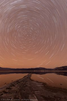 Star trails and pier ruins by Kurt Lawson ~ Death Valley National Park