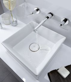 Percy Wall-Mounted Vessel Faucet with Lever Handles from DXV