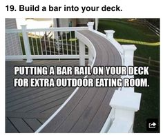 Great idea for extra seating on your deck!!