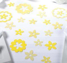 Yellow Flower Confetti | Wedding Table Decorations
