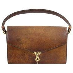 21b995e58673 Super rare Hermes Vintage Pigskin Leather bag