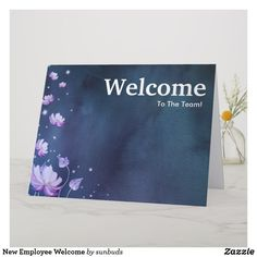 Shop New Employee Welcome Card created by sunbuds. Personalize it with photos & text or purchase as is! Welcome To The Team, Welcome Card, New Employee, New Year Card, Love You, My Love, Custom Greeting Cards, Thoughtful Gifts, Create Your Own